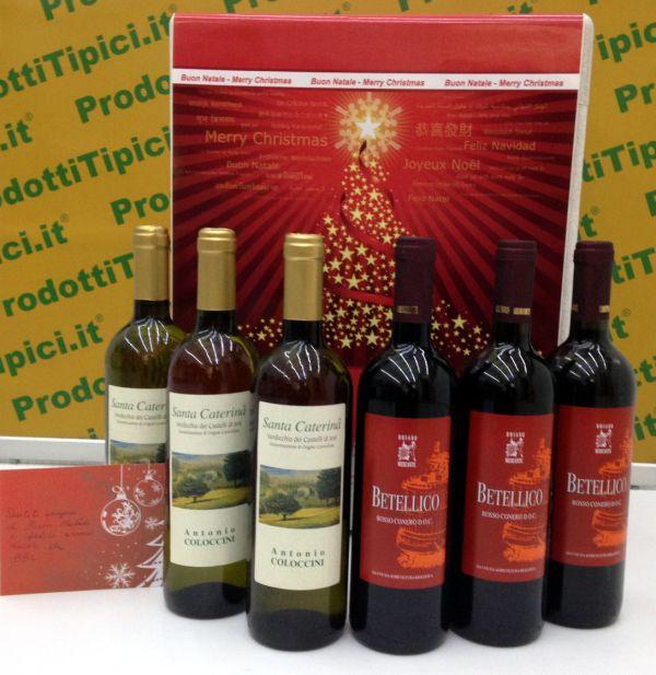 Idea regalo Natale Confezione natalizia vini biologici