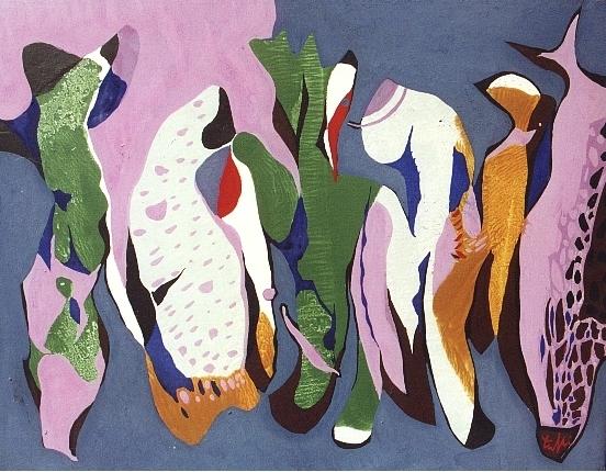 S'INCOMINCIO' COME PAESAGGIO, 1995 - acrilico su tela cm. 35x45
