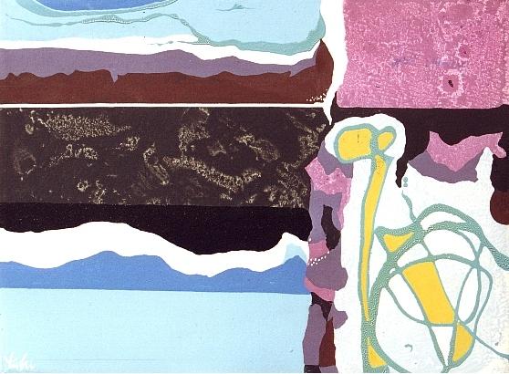MARINA CON NERO, 1997 - acrilico e smalto su tela cm. 30x40