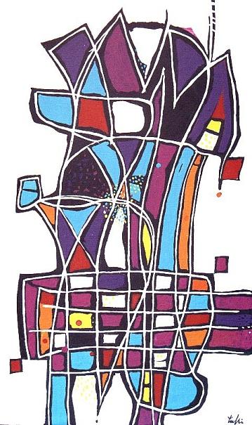 SCACCO PAZZO, 2001 - olio su tela cm. 50x30