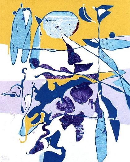 SULL'ORIZZONTE IN GIALLO, 2001 - acrilico su tela cm. 50x40