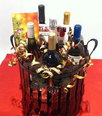 cesti natalizi con vini